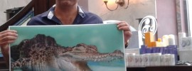 Shawn Hossein helping BNI Grand Fortune City bite into business with full colour blue print size format