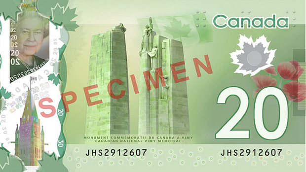 Picture of Canadian $20 bill