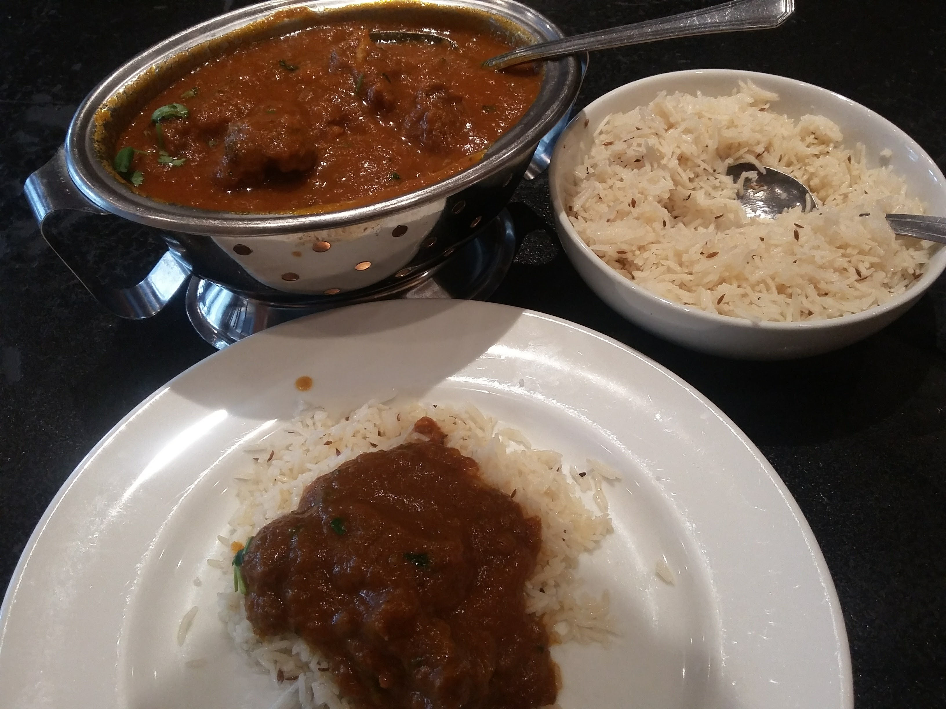 A dinner stop of Indian cuisine to mark Diwali festival of light with one plate of delish rogan josh